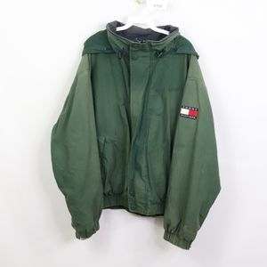 90s Tommy Hilfiger Mens XL Spell Out Patch Jacket